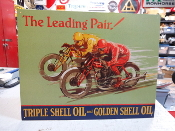 SHELL MOTORCYCLE OIL SIGN