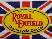 ROYAL ENFIELD MOTORCYCLE DEALER SIGN