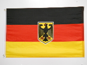 GERMAN FLAG 24in X 36in POLY