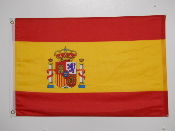SPAIN FLAG 24in X 36in POLY