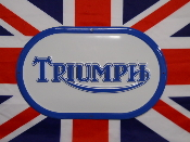 TRIUMPH BLUE LOGO SIGN