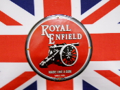 ROYAL ENFIELD PORCELAIN CANNON SIGN