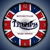 Lighted Triumph Motorcycle Clock