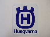 Husqvarna Motorcycle Logo Sign