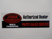 Jawa Motorcycle Authorized Dealer Sign