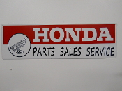 Honda Parts Sales Service Sign