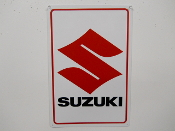 Suzuki Motorcycle Sign Large