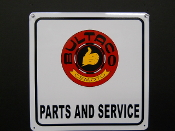 Bultaco Parts and Service Red Sign