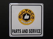 Bultaco Parts and Service Yellow Sign