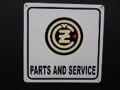 CZ Parts ans Service Sign