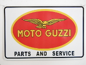 Moto Guzzi Parts and Service Large Sign