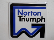 Norton / Triumph Motorcycle Sign