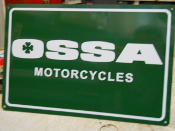 OSSA MOTORCYCLE SIGN