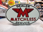 Matchless Motorcycle Oval Sign