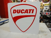 Ducati Motorcycle White Sign