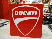 Ducati Motorcycle Red Sign