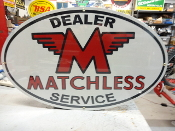Matchless Dealer Oval Sign