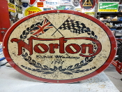 Norton Motorcycle Oval Sign