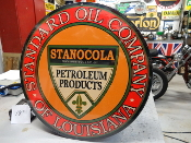 "Standard Oil of Louisiana 24"" w Sign"