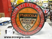 "Standard Oil of Louisiana 14"" w Sign"
