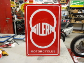 GILERA MOTORCYCLE SIGN