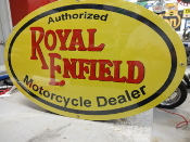 ROYAL ENFIELD MOTORCYCLE LG OVAL SIGN