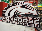 Iron Horse Motorcycle Sign