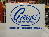Greeves Motorcycle Sign