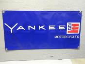 Yankee Motorcycle Banner Sign
