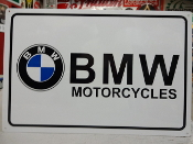 BMW Motorcycle Sign