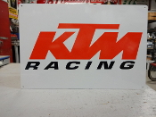 KTM Racing Motorcyclr Sign