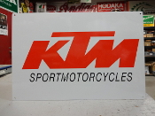 KTM Sport motorcycle Orange Sign