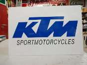 KTM Sport Motorcycle Bles Sign