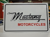 Mustang Motorcycle Sign